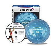 Empower Fingertip Grip Medicine Ball w/DVD 6lb Fitness Equipment