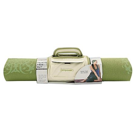 Empower Printed Yoga/Pilates Mat w/Clutch 5mm Fitness Equipment