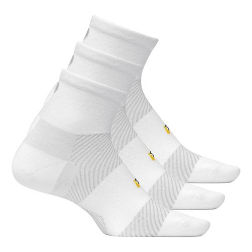 Feetures Light Cushion Quarter 3 pack - White L