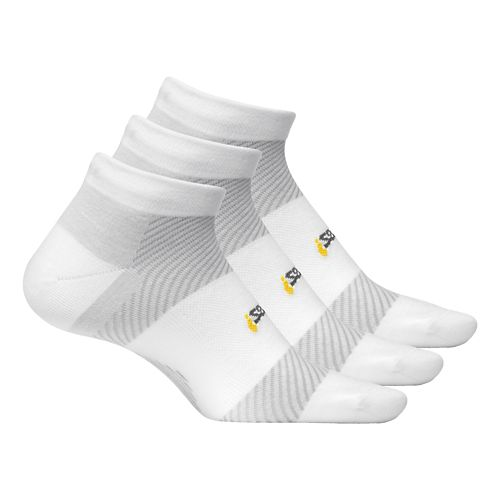 Feetures Light Cushion Low Cut 3 pack - White M