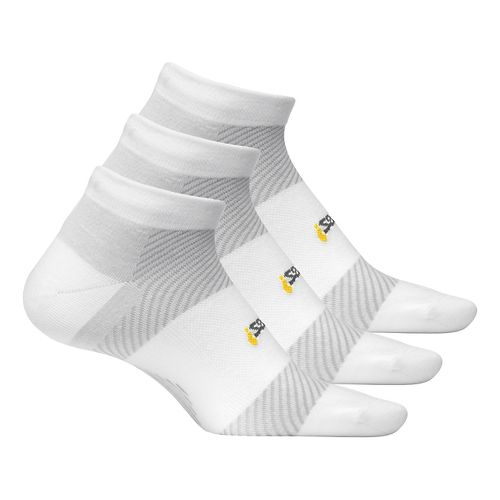 Feetures Ultra Light Cushion Low Cut 3 pack - White M