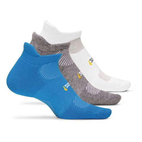Feetures High Performance Light Cushion No Show Tab 3 pack Socks - Brilliant Blue M ...