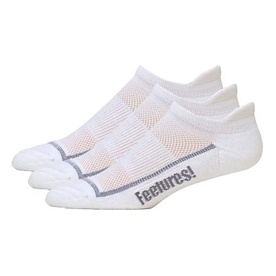 Feetures High Performance Light Cushion No Show Tab 3 pack Socks