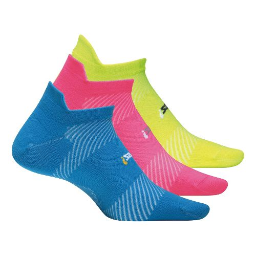 Feetures High Performance Ultra Light No Show Tab 3 pack Socks - Brilliant Blue S ...