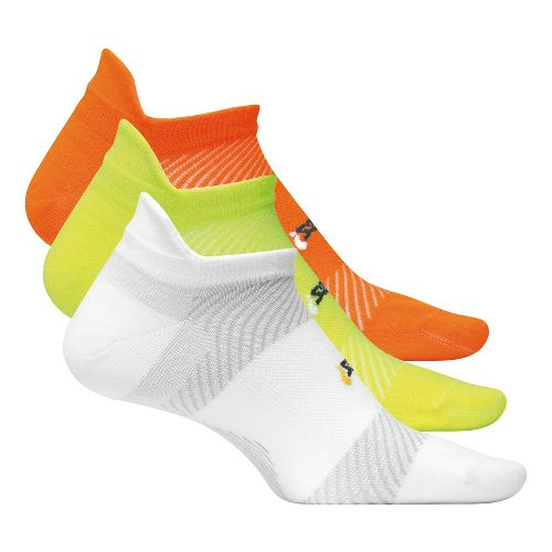 Feetures High Performance Ultra Light No Show Tab 3 pack Socks - Multi Color M ...