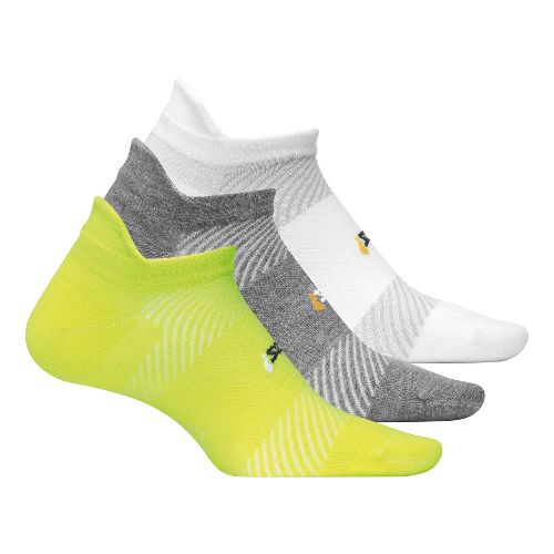 Feetures High Performance Ultra Light No Show Tab 3 pack Socks - Reflector M
