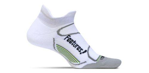 Feetures Elite Light Cushion No Show Tab Socks - White M