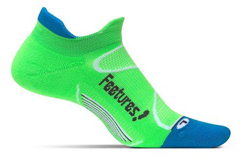 Feetures Elite Light Cushion No Show Tab Socks - Volt/Carbon L
