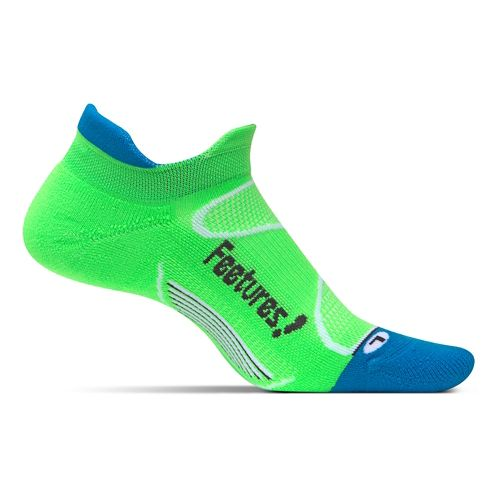 Feetures Elite Light Cushion No Show Tab Socks - Volt/Carbon M