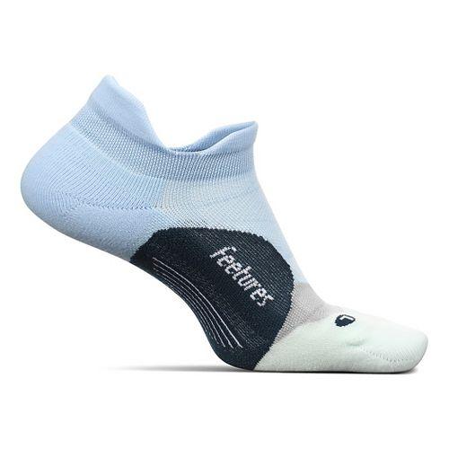 Feetures Elite Light Cushion No Show Tab Socks - Navy/Reflector L