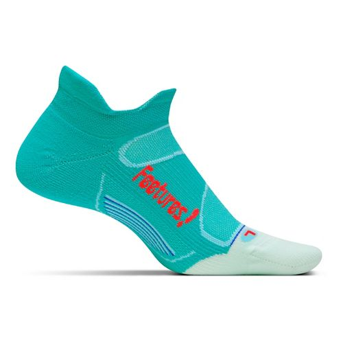 Feetures Elite Light Cushion No Show Tab Socks - Atlantis Lava M