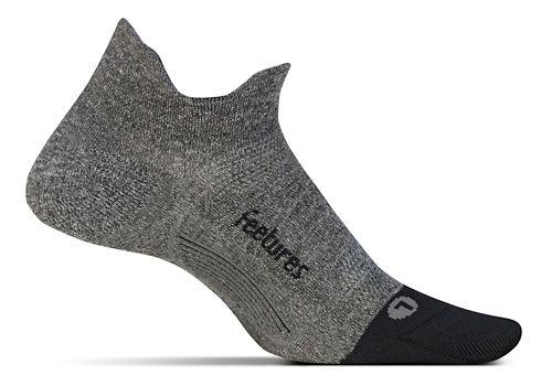 Feetures Elite Ultra Light No Show Tab Socks - Grey M