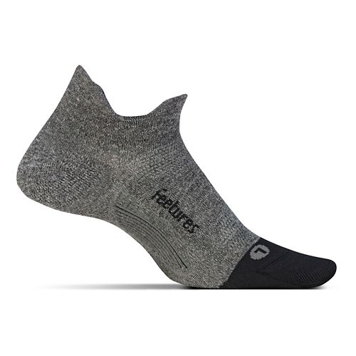 Feetures Elite Ultra Light No Show Tab Socks - Grey M