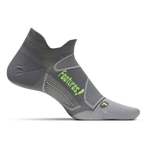 Feetures Elite Ultra Light No Show Tab Socks - Graphite/Reflector M