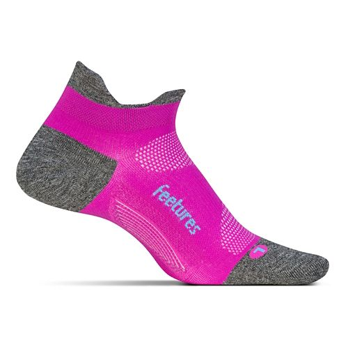 Feetures Elite Ultra Light No Show Tab Socks - Fuchsia Pop S