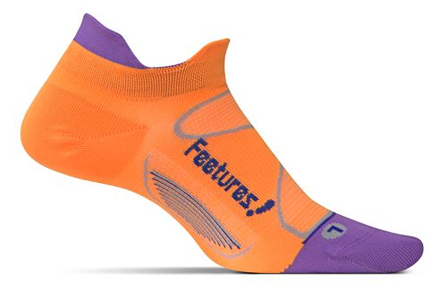 Feetures Elite Ultra Light No Show Tab Socks - Firecracker/Iris M