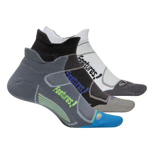 Feetures Elite Light Cushion No Show Tab 3 pack Socks - Graphite L