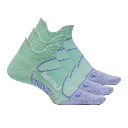 Feetures Elite Ultra Light No Show Tab 3 pack Socks - Honeydew/Iris S