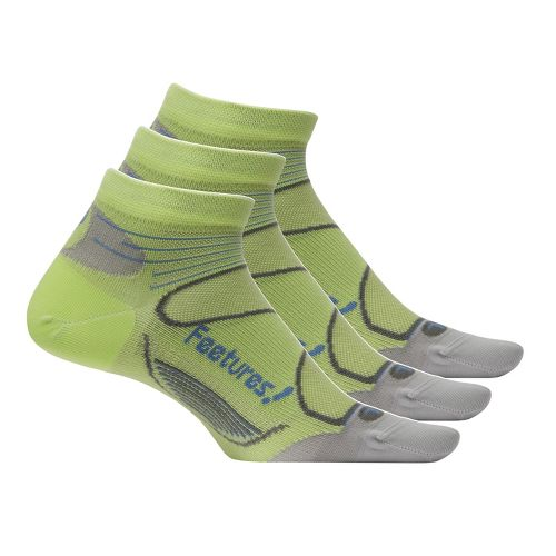 Feetures Elite Ultra Light Low Cut 3 pack Socks - Lime/Iris L