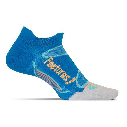 Feetures Elite Merino+ Ultra Light No Show Tab Socks - Brilliant Blue M