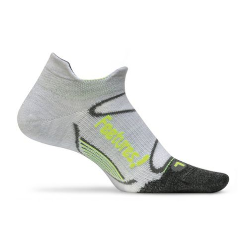 Feetures Elite Merino+ Ultra Light No Show Tab Socks - Silver/Reflector L