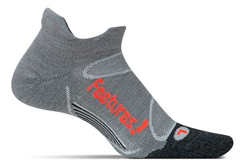 Feetures Elite Merino+ Light Cushion No Show Tab Socks - Grey Lava M
