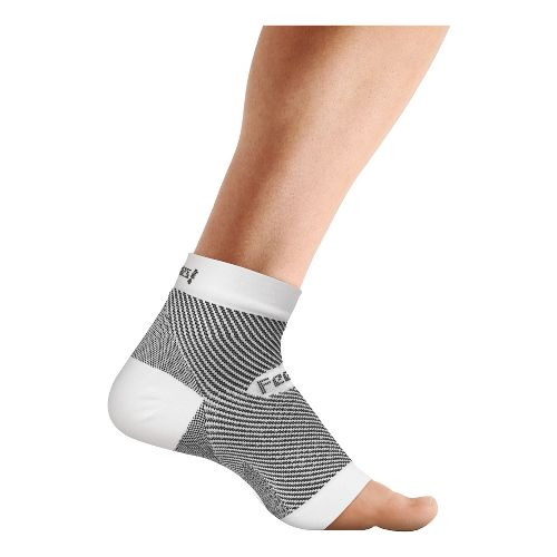 Feetures Plantar Fasciitis Sleeve Single Injury Recovery - White L/XL