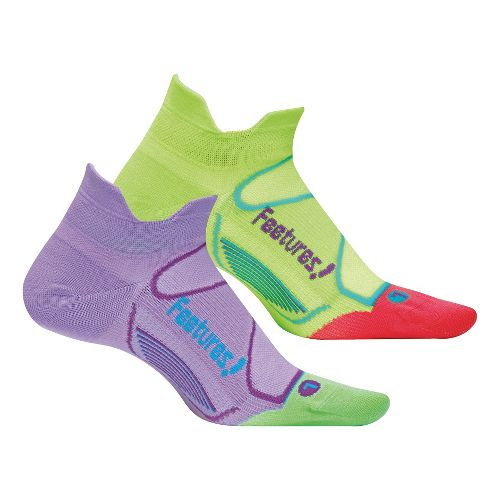 Feetures Elite Ultra Light No Show Tab 2 pack Socks - Lavender M