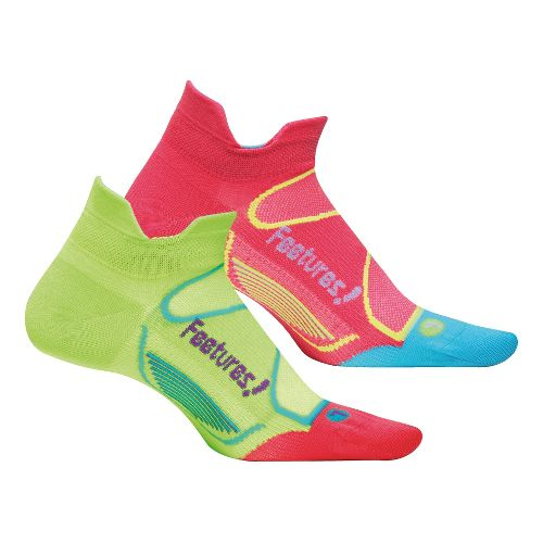 Feetures Elite Ultra Light No Show Tab 2 pack Socks - Melon M