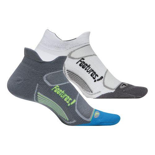 Feetures Elite Light Cushion No Show Tab 2 pack Socks - Graphite L