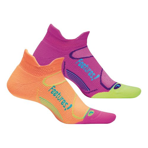 Feetures Elite Light Cushion No Show Tab 2 pack Socks - Sherbert M