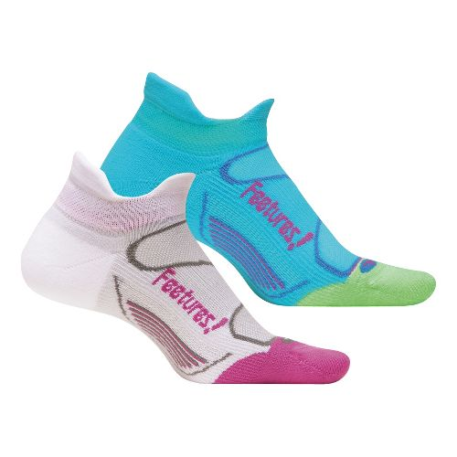 Feetures Elite Light Cushion No Show Tab 2 pack Socks - Sky Blue M