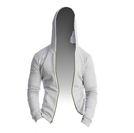 Mens 4-RTH Crossover Hoodie Long Sleeve Full Zip Technical Tops