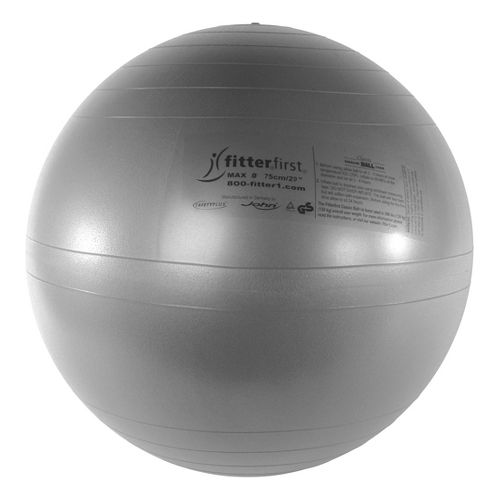 Fitter First Classic Exercise Ball 75cm Fitness Equipment - Silver