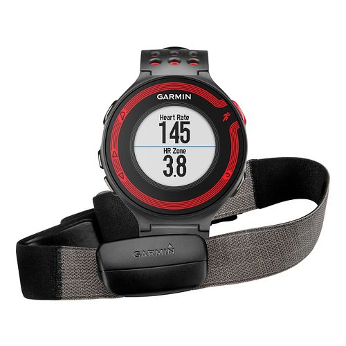 Garmin Forerunner 220 GPS with HRM3 Soft Strap Monitors - Black/Red