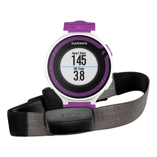 Garmin Forerunner 220 GPS with HRM3 Soft Strap Monitors - White/Violet