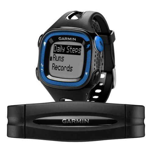 Garmin Forerunner 15 GPS Large with Heart Rate Monitor - Black/Blue