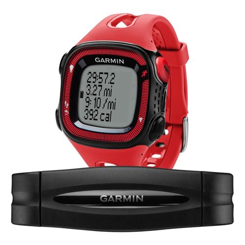 Garmin Forerunner 15 GPS Large with Heart Rate Monitor - Red/Black