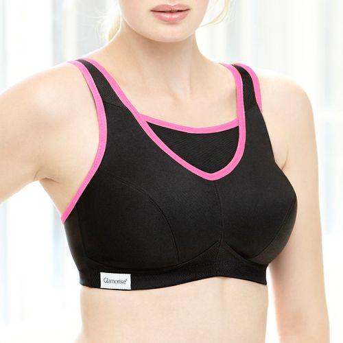 Womens Glamorise No-Bounce Cami Sport Bra Bras - Black 46G