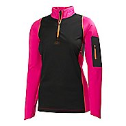 Womens Helly Hansen Charger Windblock Midlayer Long Sleeve 1/2 Zip Technical Tops