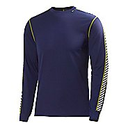Mens Helly Hansen Dry Stripe Crew Long Sleeve No Zip Technical Tops