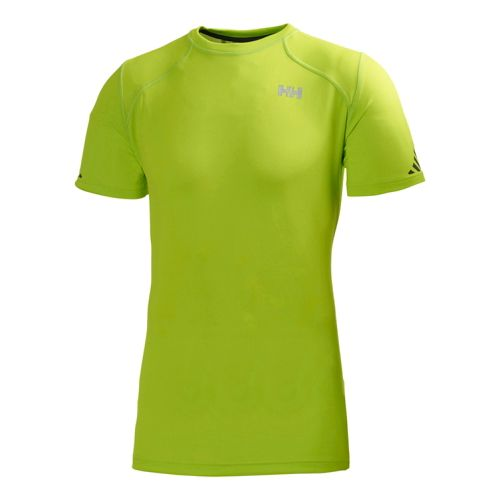 Mens Helly Hansen Pace Short Sleeve Technical Tops - Lime L