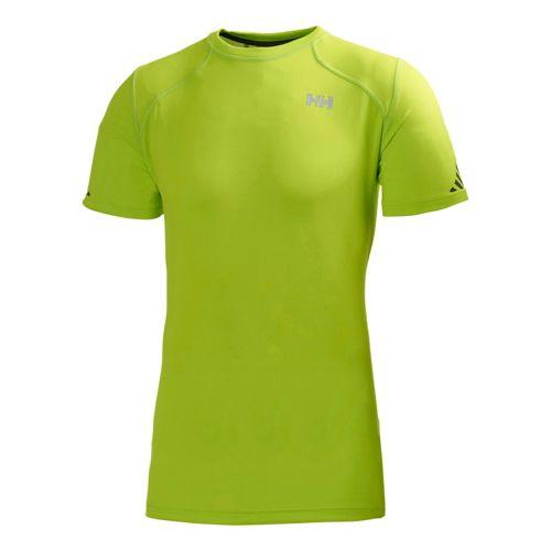 Mens Helly Hansen Pace Short Sleeve Technical Tops - Lime XXL