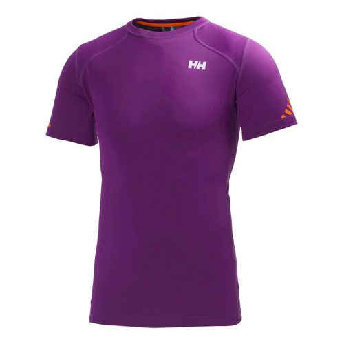 Mens Helly Hansen Pace Short Sleeve Technical Tops - Night Purple M