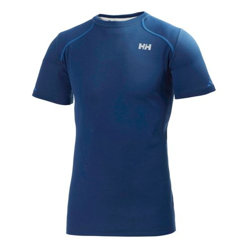 Mens Helly Hansen Pace Short Sleeve Technical Tops - Night Blue L
