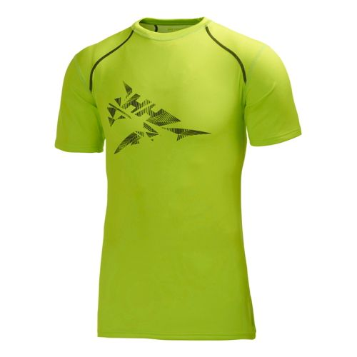 Mens Helly Hansen HH Cool Short Sleeve Technical Tops - Lime Print XXL