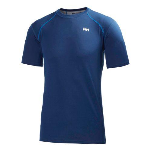 Mens Helly Hansen HH Cool Short Sleeve Technical Tops - Night Blue XXL