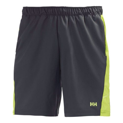Mens Helly Hansen Pace Training 2 Lined Shorts - Ebony/Lime M