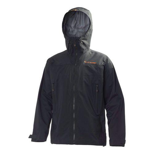 Mens Helly Hansen Odin Guiding Light Outerwear Jackets - Ebony XXL