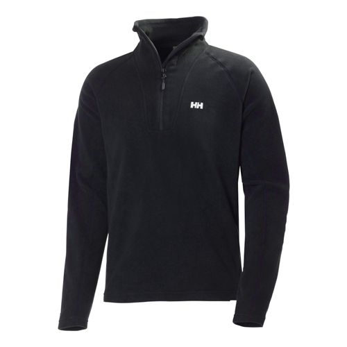 Mens Helly Hansen Mount Prostretch 1/2 Zip Long Sleeve Technical Tops - Black L